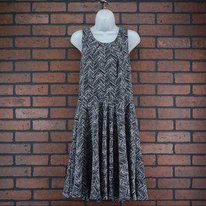 41 HAWTHORN Stitch Fix Black White Print Dress XL